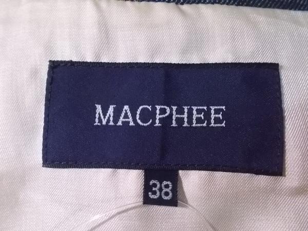 MACPHEE(マカフィ) ジャケット サイズ38 M レディース ダークネイビー デニム