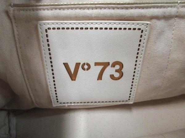V73(ヴィセッタンタトレ) ショルダーバッグ ベージュ×ダークブラウン×白