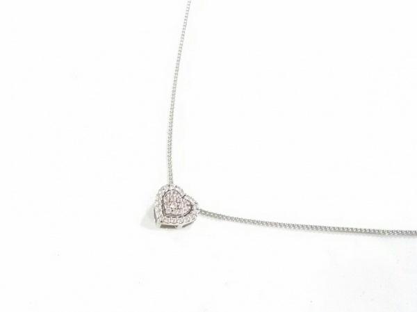 フォリフォリ ネックレス美品  K10WG×ダイヤモンド ハート/0.57カラット