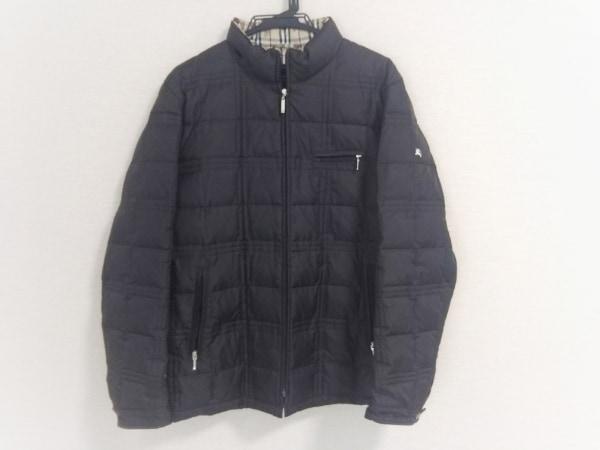 バーバリーブラックレーベル ダウンジャケット メンズ 黒 ジップアップ/冬物