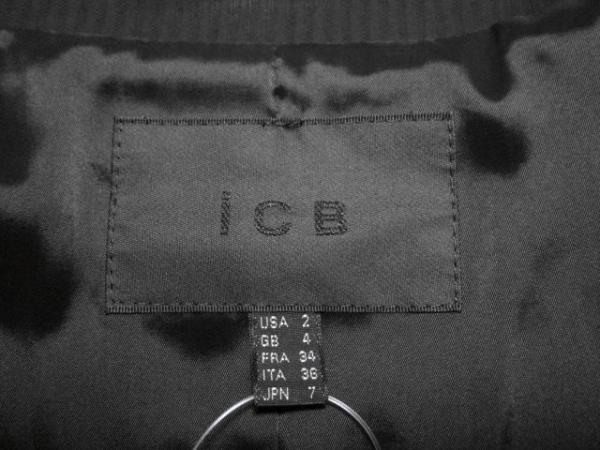 ICB(アイシービー) レディースパンツスーツ サイズ2 M レディース 黒 ストライプ