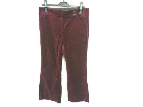 PaulSmith(ポールスミス) パンツ サイズ42 XL レディース ボルドー ベロア
