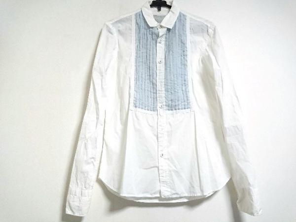 kolor(カラー) 長袖シャツブラウス サイズ3 L レディース美品  白×ライトブルー