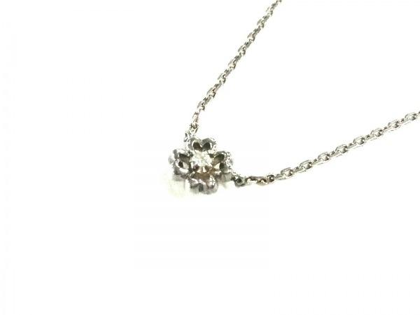 4℃(ヨンドシー) ネックレス美品  シルバー×ラインストーン クリア ハート