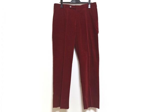 ErmenegildoZegna〜soft〜(ゼニア) パンツ サイズ52 メンズ レッド