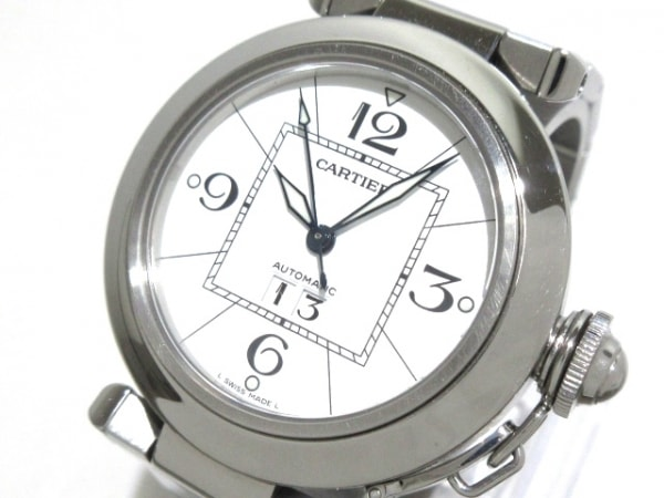 Cartier(カルティエ) 腕時計 パシャCビッグデイト W31055M7 ボーイズ SS 白