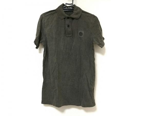 STONE ISLAND(ストーンアイランド) 半袖ポロシャツ メンズ カーキグレー