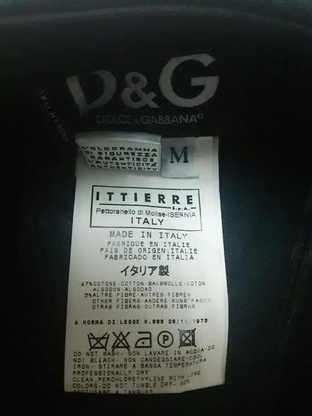 D&G(ディーアンドジー) ハンチング M 黒 コーデュロイ