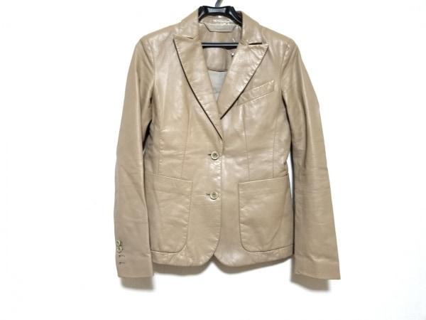 リードクラッコフ ジャケット サイズ2 M レディース美品  ベージュ レザー