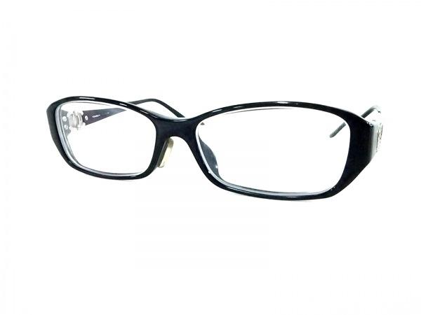 CHANEL(シャネル) メガネ 3107-B クリア×黒×シルバー 度入り/ココマーク