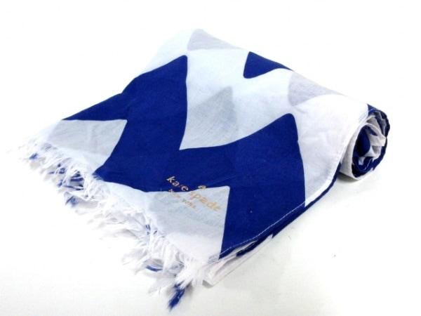 Kate spade(ケイトスペード) ストール(ショール)美品  ブルー×白 コットン
