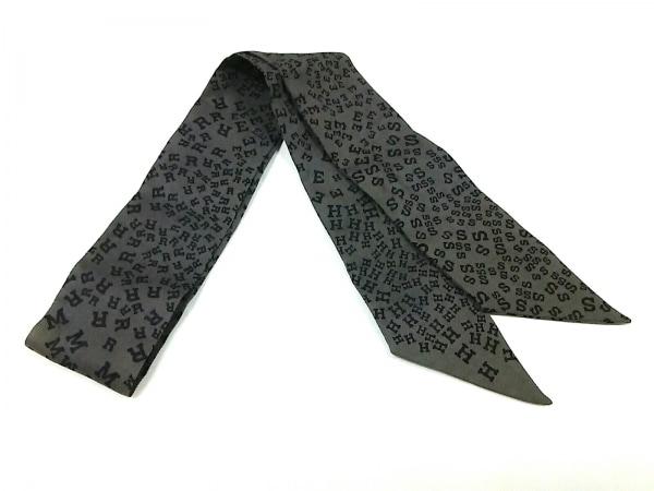 HERMES(エルメス) スカーフ ツィリー カーキ×黒