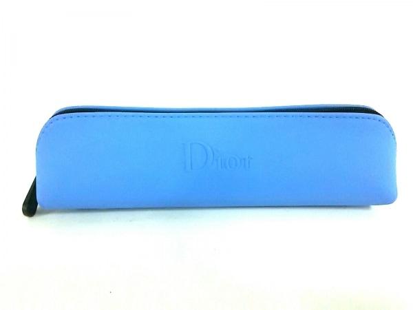 ディオールパフューム ペンケース美品  ライトブルー PVC(塩化ビニール)