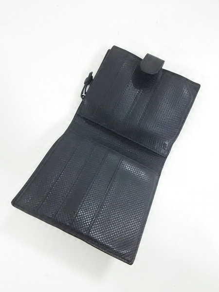 BOTTEGA VENETA(ボッテガヴェネタ) 2つ折り財布美品  - - 黒 レザー