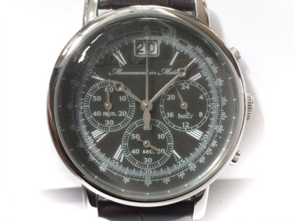Movement in Motion(ムーブメントインモーション) 腕時計 VK73 メンズ 黒