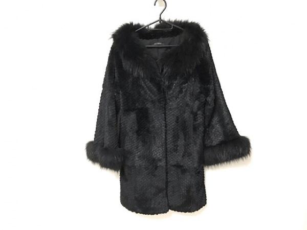 Lou Andrea(ルーアンドレア) コート サイズS レディース美品  黒 ラビット/冬物