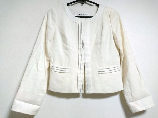 ジャスグリッティー ジャケット サイズ2 M レディース  アイボリー×白