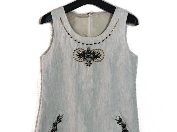 Chesty(チェスティ) ワンピース サイズ0 XS レディース アイボリー 刺繍/ビジュー