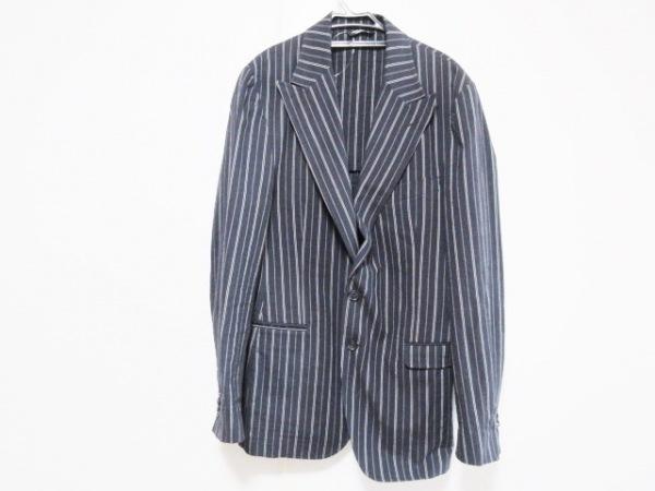 ドルチェアンドガッバーナ ジャケット サイズ50 M メンズ 黒×ライトグレー