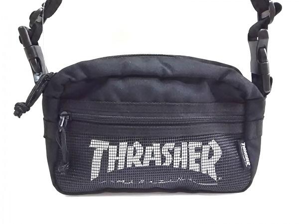THRASHER(スラッシャー) ショルダーバッグ美品  黒 2way ナイロン