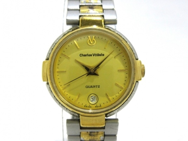 CharlesVogele(シャルルホーゲル) 腕時計 CV-8014-2 レディース ゴールド