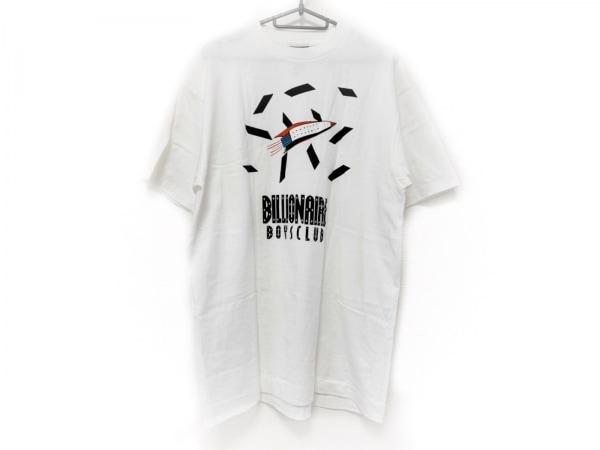 ビリオネアボーイズクラブ 半袖Tシャツ サイズL メンズ美品  アイボリー×黒×マルチ