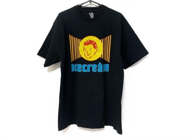 ビリオネアボーイズクラブ 半袖Tシャツ サイズL メンズ 黒×イエロー×ブルー
