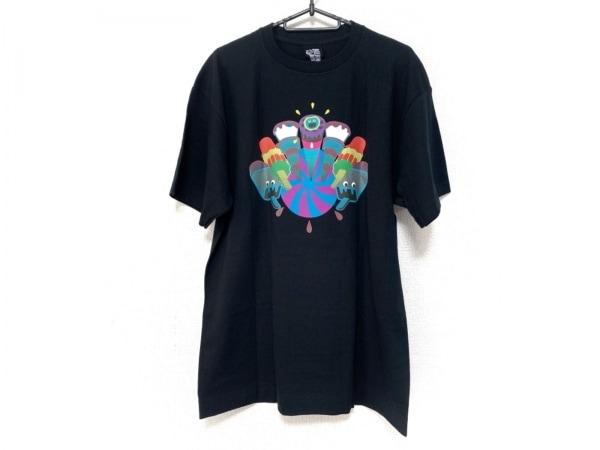 ビリオネアボーイズクラブ 半袖Tシャツ サイズL メンズ美品  黒×ブルー×マルチ