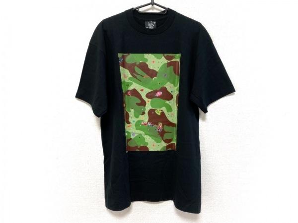 ビリオネアボーイズクラブ 半袖Tシャツ サイズL メンズ美品  黒×グリーン×マルチ