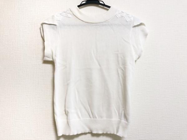Maglie par ef-de(マーリエ) 半袖セーター サイズ9 M レディース 白