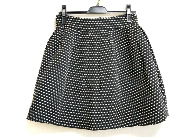 LANVIN en Bleu(ランバンオンブルー) スカート サイズ38 M レディース 黒×ベージュ