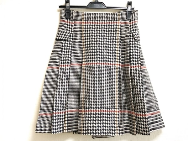 Maglie par ef-de(マーリエ) スカート サイズ9 M レディース 黒×ベージュ×レッド