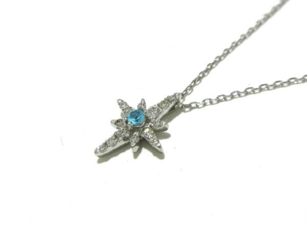 スタージュエリー ネックレス美品  Pt950×ダイヤモンド×トルマリン ライトブルー
