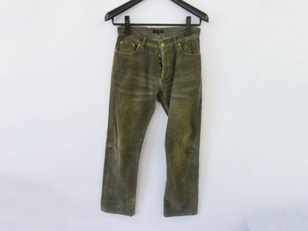 バーバリーブラックレーベル パンツ サイズ76 メンズ カーキ コーデュロイ