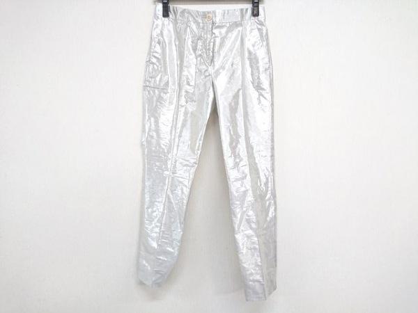 ETRO(エトロ) パンツ サイズ40 M レディース シルバー センタープレス/シルク混