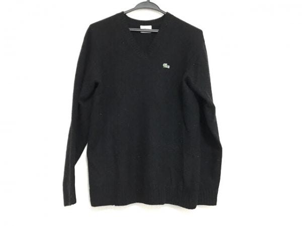 Lacoste(ラコステ) 長袖セーター サイズ3 L メンズ 黒