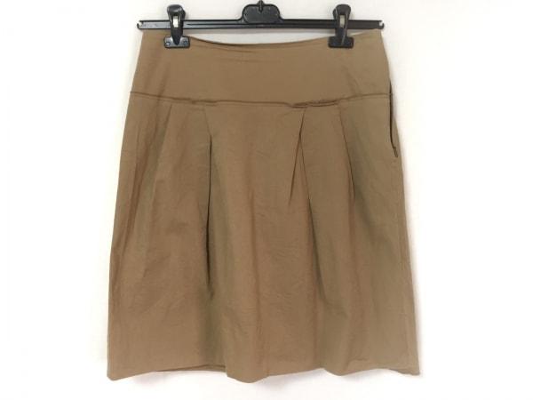 PRADA(プラダ) スカート サイズ42 M レディース ベージュ