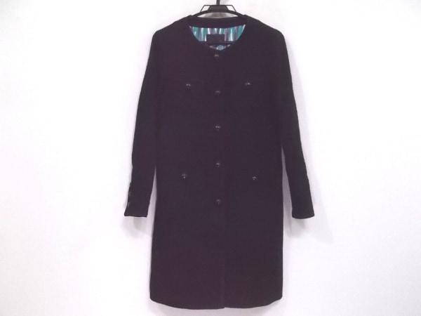 ICB(アイシービー) コート サイズ40 M レディース新品同様  黒 パイピング/春・秋物