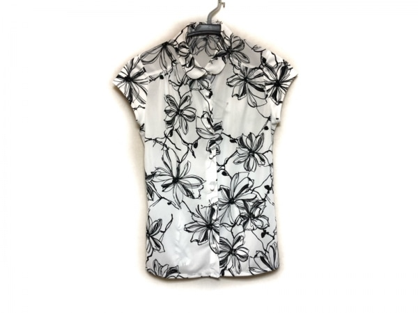 NARACAMICIE(ナラカミーチェ) 半袖シャツブラウス サイズ0 XS レディース美品  白×黒