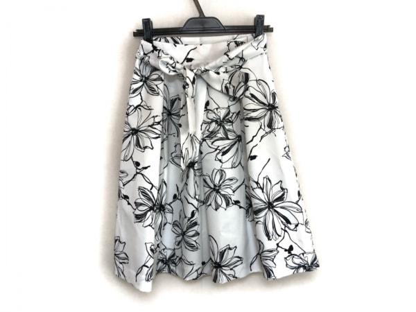 NARACAMICIE(ナラカミーチェ) スカート サイズ0 XS レディース美品  白×黒