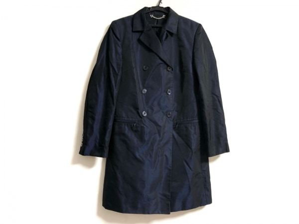 GUCCI(グッチ) コート サイズ44 L レディース ダークネイビー 肩パッド/春・秋物