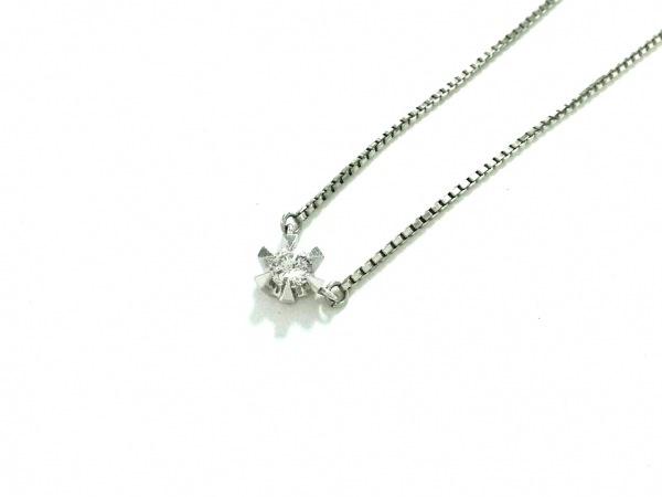 ノーブランド ネックレス美品  Pt850×ダイヤモンド クリア 総重量:4.3g/019刻印