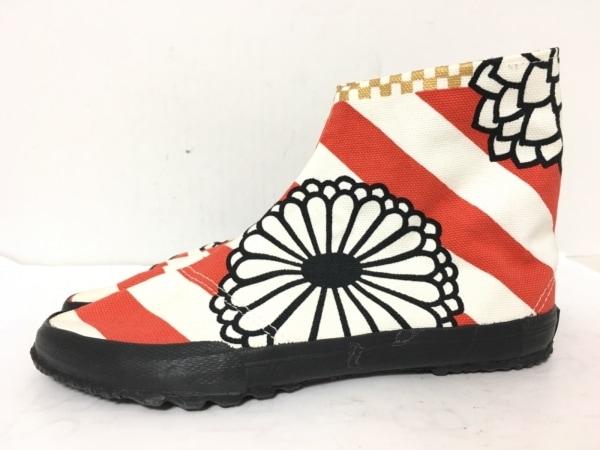 SOU・SOU(ソウソウ) 靴 24 レディース 白×レッド×黒 キャンバス