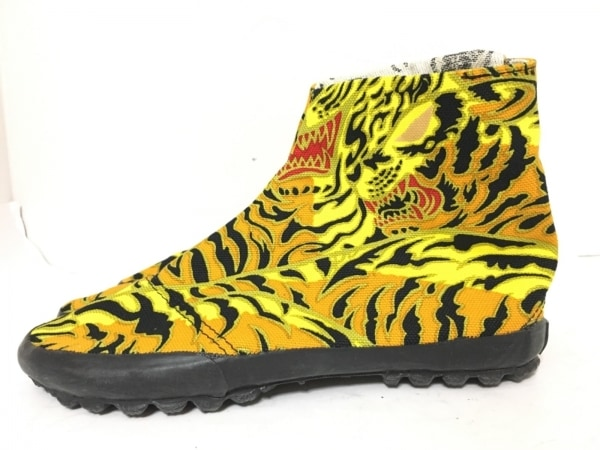 SOU・SOU(ソウソウ) 靴 24 レディース美品  イエロー×オレンジ×マルチ キャンバス