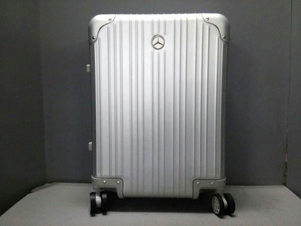 Mercedes-Benz(メルセデスベンツ) キャリーバッグ美品  シルバー アルミニウム