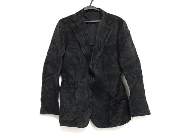 HAUTE(オート) ジャケット サイズ50 XL レディース美品  黒 シルク