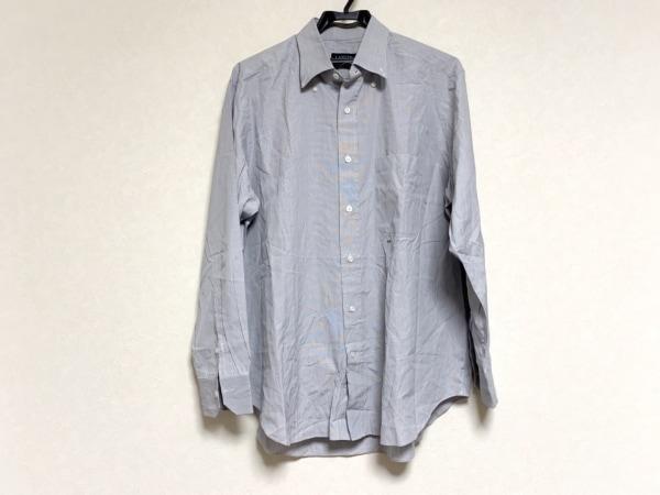 LANVIN(ランバン) 長袖シャツ メンズ ライトグレー イニシャル刺繍
