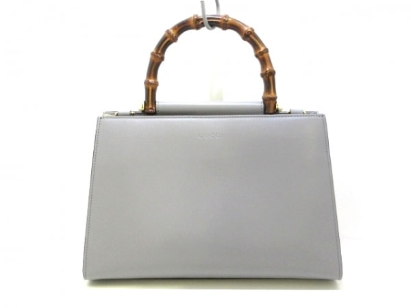 GUCCI(グッチ) ハンドバッグ美品  ニムフェア/バンブー 459076 レザー×ウッド
