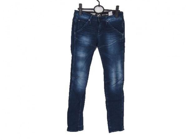 ジースターロゥ ジーンズ サイズ25 XS レディース ブルー×グレー 96/刺繍
