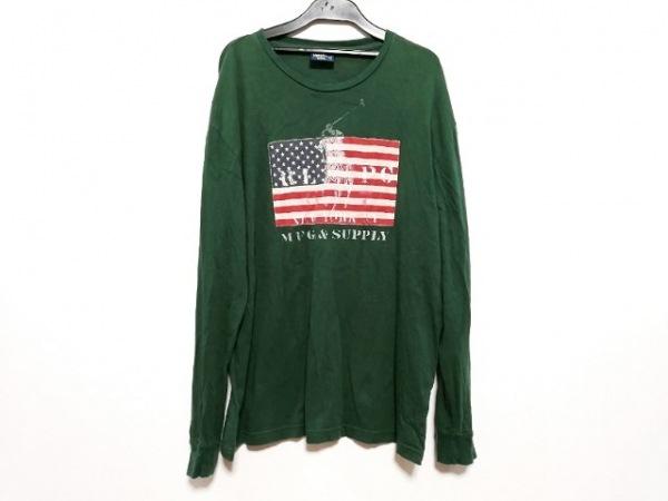 ポロラルフローレン 長袖Tシャツ サイズS メンズ ビッグポニー グリーン クルーネック